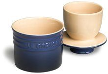 LE CREUSET Stoneware Butter Crock Cobalt $31.95 TOTAL! TOP BRANDS * LOWEST PRICES * FREE WORLD SHIPPING * CULINART WEBSITE: www.shopculinart.com