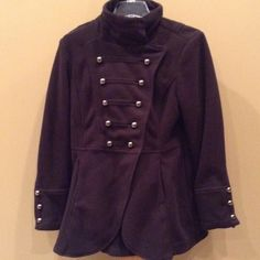 Penn wright mason military style coat Fleece black coat macys Jackets & Coats