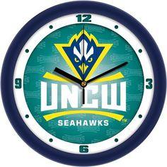 NCAA North Carolina Wilmington Seahawks Dimension Wall Clock