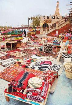 Un bazar de alfombras marroquíes