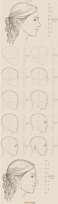 See the full tutorial and more examples here: http://rapidfireart.com/2017/03/08/how-to-draw-a-female-face-from-the-side/ How to Draw Female Faces from the Side