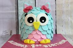 3D Owl Cake! - Cake by Love From The First Cake