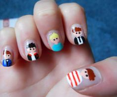 One Direction Nail Art Pictures.