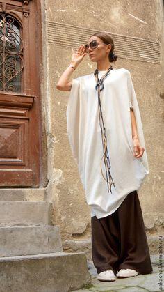 Купить Туника -платье Sexy Summer Ivory - кремовый, платье, летнее платье, белое платье