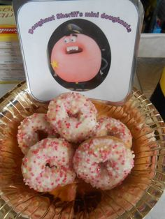 Doughnut sheriff's mini doughnuts. The amazing world of gumball party food.