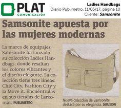 Samsonite: Lanzamiento de Ladies Handbags en el diario Publimetro de Perú (11/05/17)