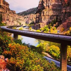 Love this shot of Glenwood Canyon from Instagram user @1llest_co_x. #glenwoodsprings #colorado