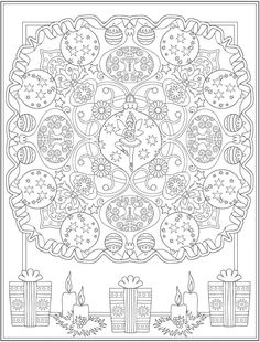 Welcome to Dover Publications Dover Coloring Pages, Disney Coloring Pages, Mandala Coloring Pages, Coloring Books, Colouring, Christmas Color By Number, Christmas Colors, Halloween Coloring Pages, Christmas Coloring Pages