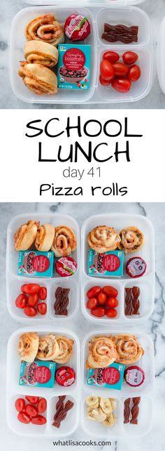 School Lunch Day Pizza rolls (again!) 2019 Make school lunch packing fast . School Cafeteria Pizza Recipe, Cafeteria Food, Snack Boxes Healthy, Lunch Snacks, Healthy Lunches, Kid Snacks, Healthy Foods, Lunch Box Recipes, Lunch Ideas