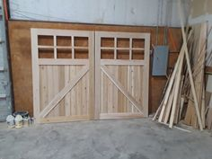Real Carriage Doors that are Customizable Cedar Garage Door, Custom Garage Doors, Carriage Garage Doors, Wooden Garage Doors, Garage Exterior, Garage Door Design, Barn Doors, Garage Door Makeover, Garage Renovation