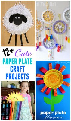 Over 12 cute paper plate craft projects for you to make with your kids or for school