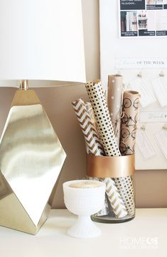 Chic Wrapping Paper Storage - Home Made By Carmona