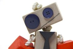 Robot Toy robot wood robot gift for boy by TANGLeAndFoLd