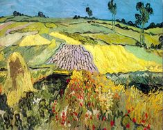 """Wheat Fields near Auvers -  Auvers-sur-oise, France  1890.  In a letter to his brother Theo """".....Well, do you know what I hope for, once I allow myself to begin to hope? It is that the family will be for you what nature, the clods of earth, the grass, the yellow wheat, the peasant, are for me."""""""