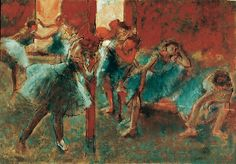 Bailarinas durante un ensayo, por Degas, 1895-96.
