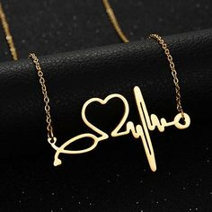 Heart - Heartbeat Pendant Necklace
