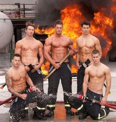 its getting hot in here lol... I will set a fire if you can promise these men will come!!