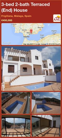3-bed 2-bath Terraced (End) House in Frigiliana, Malaga, Spain ►€450,000 #PropertyForSaleInSpain