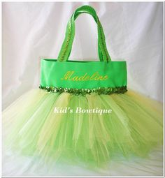 Tinkerbell Inspired Tutu Gift Bag - for the birthday party this year