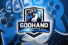 Godhand Gaming - Mascot & Esport logo designed by AQR Studio. the global community for designers and creative professionals. Creative Logo, Game Logo Design, Branding Design, Typography Logo, Art Logo, Envato Elements, Graffiti, Esports Logo, E Sport