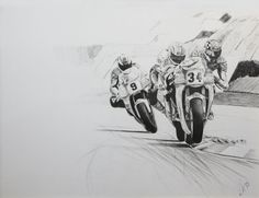 "Schwantz, Doohan, Barros ""Austria '93"" www.motorart27.com #MotoGP #500cc #Doohan #Barros #Schwantz #Suzuki #Honda #Yamaha #Rainey #Salzburgring #1993 #WorldChampion #motorcycleracingart #artistcommunity #successartist #growyouraudience #artempire #ink #inkillustration #illustration"