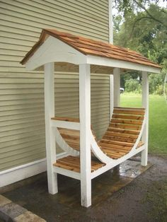 Outdoor Wood Projects | Outdoor wood storage project