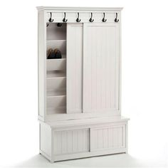 Hall Shoe Cupboard, White