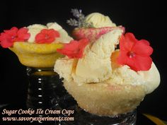 Sugar Cookie Ice Cream Cups