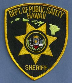hawaii state police patches | Hawaii State Department of Public Safety Sheriff Police Patch