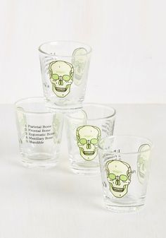 You Get the Biologist Shot Glass Set. You know the basics of this these shot glasses, but do you have the details down pat? #green #modcloth