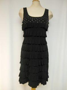 Gorgeous, Ruffle dress with Swarovski Crystals – Silhouette Fashion Boutique