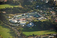 Aerial photo of the Onslow College school grounds