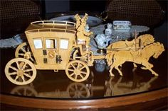 scroll saw fretwork coach with two horses