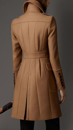 Absolutely love this - Bonded Wool Cashmere Military Coat | Burberry