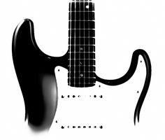 Electric Guitar BW by Athena McKinzie https://fineartamerica.com/featured/electric-guitar-bw-athena-mckinzie.html