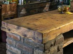 Discover how a rustic kitchen island can complete the overall feel of a natural, simple kitchen space.