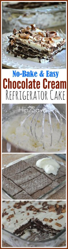Chocolate Cream Refrigerator Cake (Easy No-Bake Dessert) – Hip2Save