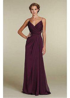 Buy discount Gorgeous Chiffon Sheath Spaghetti Straps Full Length Bridesmaids Dress at Laurenbridal.com