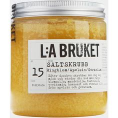 Toast Lilla Bruket Salt Scrub (42 AUD) ❤ liked on Polyvore featuring beauty products, bath & body products, body cleansers, beauty, fillers, makeup, cosmetics, yellow, detail and embellishment