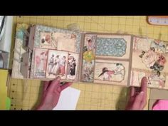 Double Paper Bag Page Mini Album Tutorial, Part 2 of 3 - YouTube