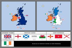 Map of the UK (+ constituent countries) and the Republic of Ireland.