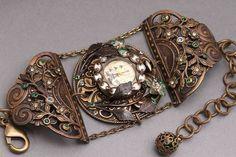 Steampunk Watch Womens Steampunk Watch Pocket Watch Women Watches by DesignsBloom on Etsy 149.99