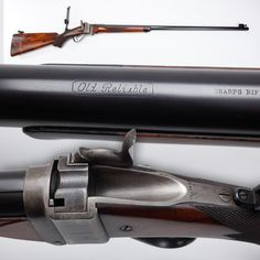 """Sharps Model 1877 - The Sharps Model 1877 rifle received an unusual nickname – """"the English Sharps."""" But why? Something that may be hard to believe about this """"Old Reliable"""" is that the barrel was actually crafted by Rigby in England.  While only about 100 M1877 Sharps were to be manufactured, the elegant lines of this single-shot and its excellent balance for long-range shooting made it the ne plus ultra of Creedmoor competition.  NRA National Firearms Museum  in Fairfax, VA."""