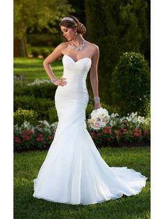 Mermaid Sweetheart Taffeta Wedding Dress