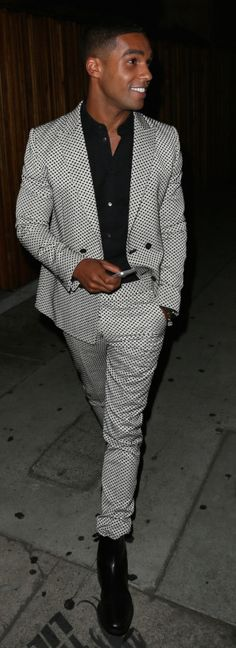 Lucien Laviscount leaving 'The Nice Guy' in West Hollywood (WeHo)