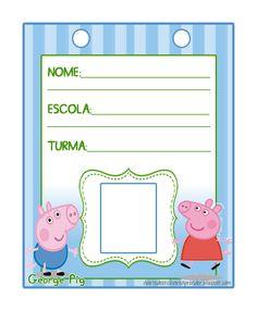 Crachá com o tema Peppa Pig e George Pig