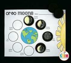Such a fun way to teach kids about the phases of the moon! Make Oreo moon phases!