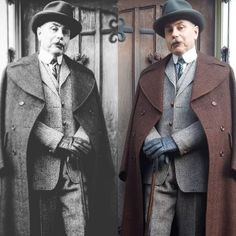 Me now and then #vintage#vintagechap  #vintagehats#weartheclothsyouwont#blackandwhitephotos #moustache #truevintage#vintagedandy #stiffshirtcollars #darcyclothing #spats #vintagemenswear #vintagesuit #style #vintagestyle #bestylish #lifestyle #bestylish #Homberg#vintagetie  #vintagetweedcoat