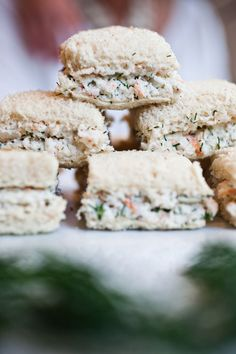 These delightful turkey and avocado sandwiches are wrapped with chives ...
