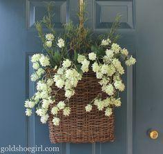 front door flower baskets - Google Search